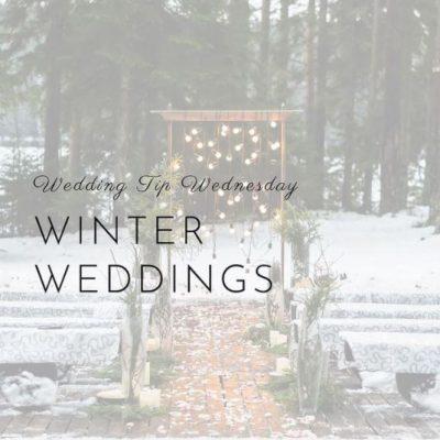 How to Plan Winter Weddings